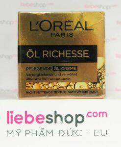 Kem dưỡng da Loreal Paris Öl Richesse Pflegende Öl-Creme Hàng xách tay Đức