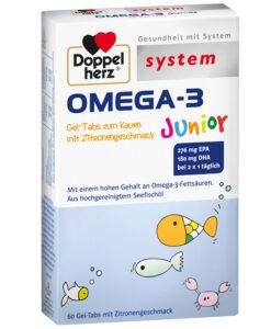 Viên uống OMEGA-3 Junior bổ sung DHA, EPA và Vitamin cho trẻ em và người lớn, 60 viên