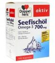 Dầu cá Omega-3 Seefischöl 700mg + Vitamin E, B1 - Doppelherz aktiv , 120 viên