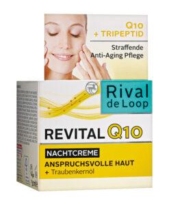 Kem dưỡng da Rival de Loop Revital Q10 Nachtcreme - kem đêm chống lão hóa, 50ml