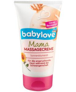 Kem chống rạn da bà bầu babylove Mama Massagecreme Oliveöl, 150ml