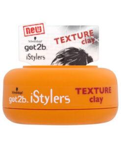 Sáp vuốt tóc Schwarzkopf Got2b iStylers Texture clay Paste, 75ml