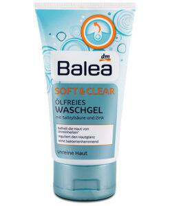 Sữa rửa mặt trị mụn Balea Waschgel Soft & Clear ölfrei, 150 ml