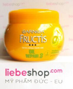 Kem ủ tóc GARNIER Fructis Oil Repair 3 phục hồi tóc khô và hư tổn, 300 ml - Hàng xách tay Đức