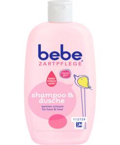 Tắm gội bebe Zartpflege Shampoo & dusche cho trẻ sơ sinh và trẻ em, 200ml
