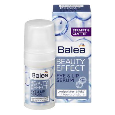 Serum Balea Beauty Effect Eye & Lip Serum – huyết thanh chống lão hóa, làm căng da vùng mắt và môi, 15 ml