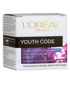 Kem dưỡng da L'Oréal Paris Youth Code Gesichtspflege ban đêm hàng xách tay Đức