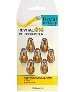 Viên nang dưỡng da Rival de Loop Revital Q10 Pflegekapseln 7 Stück - chống lão hóa, giảm nếp nhăn