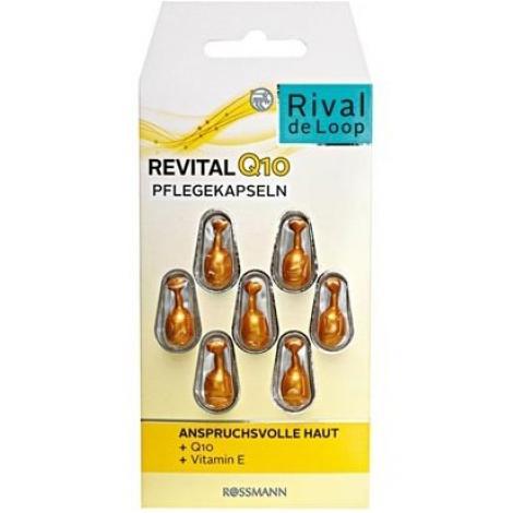 Viên nang dưỡng da Rival de Loop Revital Q10 Pflegekapseln 7 Stück – chống lão hóa, giảm nếp nhăn