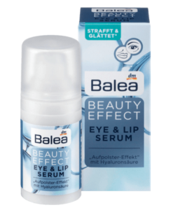Balea Beauty Effect Eye & Lip Serum - huyết thanh chống lão hóa, làm căng da vùng mắt và môi, 15 ml