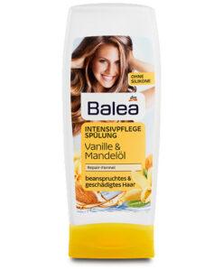 Dầu xả Balea Intensivpflege Spülung Vanille & Mandelöl - phục hồi tóc hư tổn, 300 ml