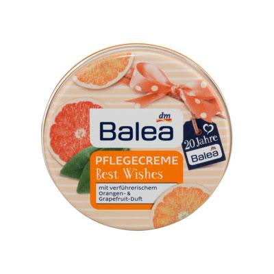 Kem dưỡng ẩm Balea Pflegecreme Orange & Grapefruit, 30 ml