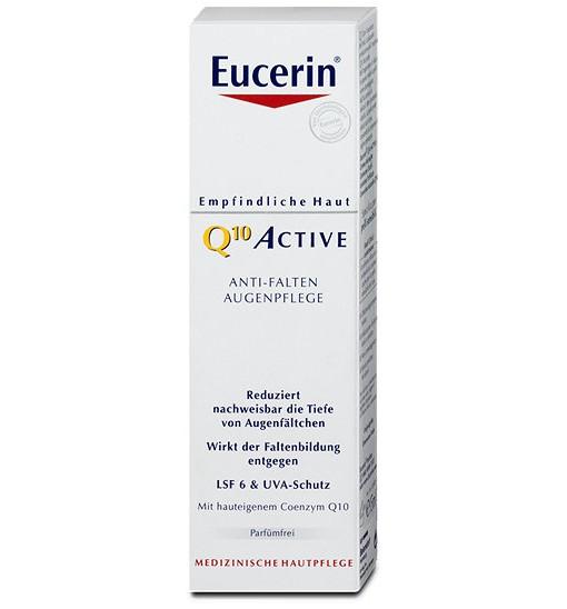 Kem dưỡng mắt Eucerin Q10 Active Anti-Falten Augenpflege, 15ml