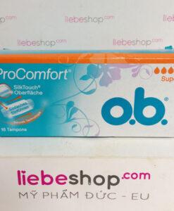Băng vệ sinh Tampon o.b. Pro Comfort Super, 16 cái - hàng xách tay Đức