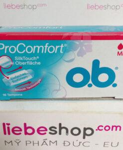 Băng vệ sinh Tampon o.b. Pro Comfort Mini, 16 cái - Hàng xách tay Đức