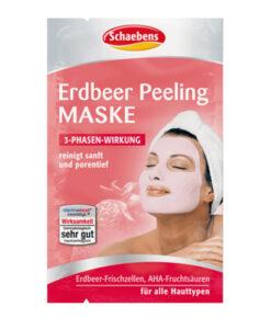 Mặt nạ Schaebens Erdbeer Peeling Maske tẩy da chết hương dâu, 2x6ml
