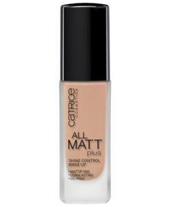 Kem nền Catrice All Matt Plus Shine Control Make Up - 020 Nude Beige kiểm soát dầu, 30ml
