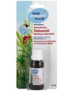 Tinh dầu trà Úc DAS gesunde PLUS Australisches Teebaumöl - trị mụn, khử mùi, dưỡng da (Tea Tree Oil), 30 ml