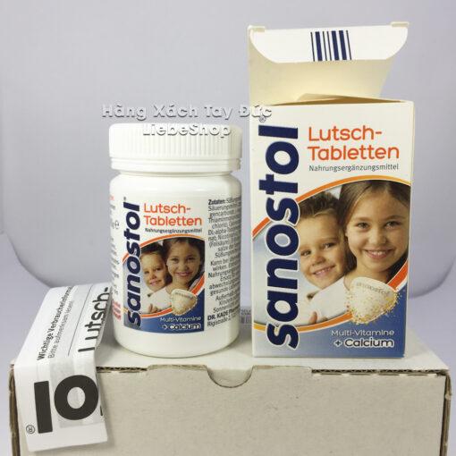 Viên ngậm Sanostol Lutsch-Tabletten bổ sung Canxi và Multi-Vitamin, 75 viên
