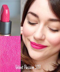 Son KIKO Velvet Passion Matte Lipstick 307 Cyclamen Pink - Hồng sen Swatch