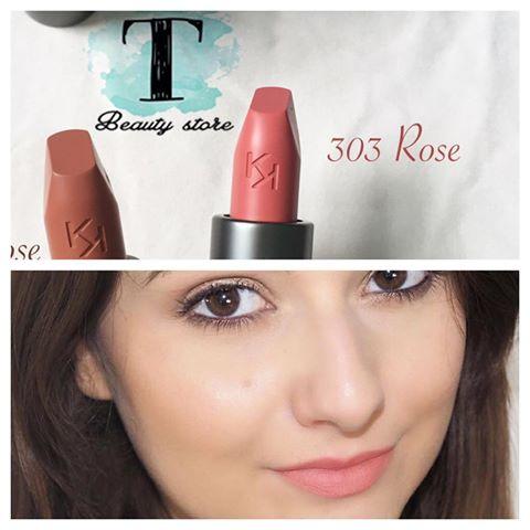 Son KIKO Velvet Passion Matte Lipstick 303 Rose - Hồng nude