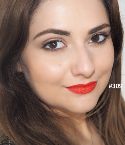 Son KIKO Velvet Passion Matte Lipstick 309 Tulip Red - Đỏ cam Swatch