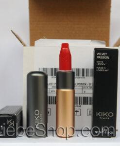 Son KIKO Velvet Passion Matte Lipstick 311 Poppy Red