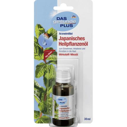 Tinh dầu bạc hà DAS gesunde PLUS Japanisches Heilpflanzenöl, 30ml