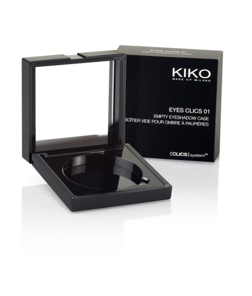 Hộp đựng phấn mắt KIKO EYES CLICS 01 kèm gương soi