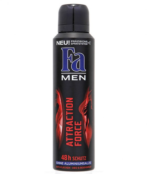 Xịt khử mùi Fa Men Attraction Force 48h Schutz, 150ml