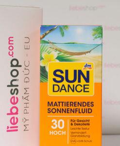 Kem chống nắng SUNDANCE Mattierendes Sonnenfluid LSF 30, 50 ml