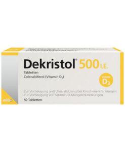 Dekristol 500 I.E bổ sung Vitamin D3 chống còi xương, loãng xương, 100 viên