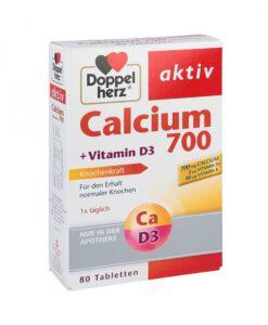 Viên uống bổ sung canxi Doppelherz Calcium 700 + D3, 80 viên