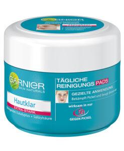 GARNIER Hautklar Reinigungspads - Miếng đệm làm sạch da, trị mụn nhanh, 56 miếng