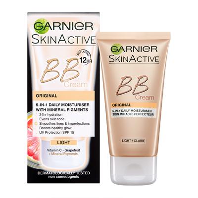 Kem nền Garnier BB Cream Der Klassiker 5 in 1 với Vitamin C và sắc tố khoáng – Hell (tone sáng), 50ml
