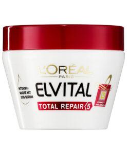 Kem ủ tóc Loreal Paris Elvital Total Repair 5 Reparatur-Maske phục hồi tóc, 300 ml