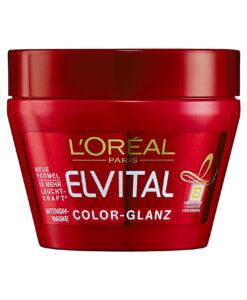 Kem ủ tóc Loreal Paris Elvital Color-Glanz Intensiv-Pflegemaske cho tóc nhuộm, 300 ml