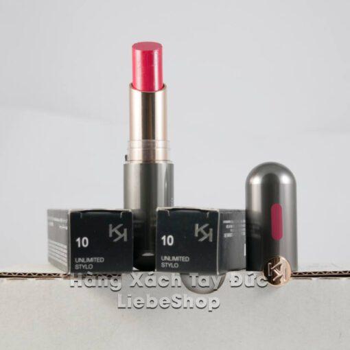 Son KIKO NEW Unlimited Stylo 10 Strawberry Red - Hồng dâu