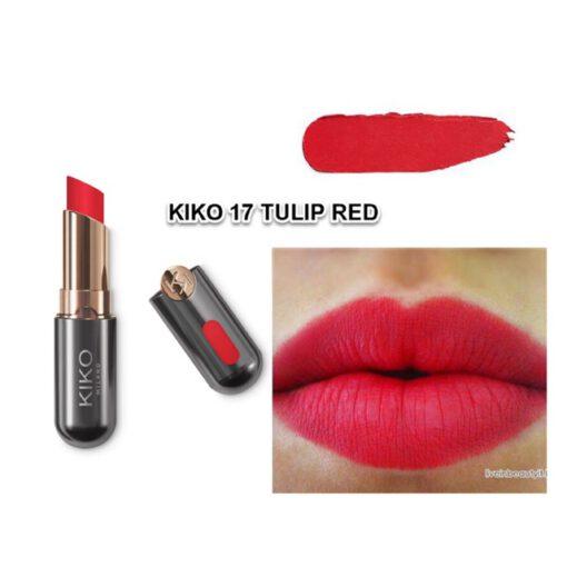 Son KIKO NEW Unlimited Stylo 17 Tulip Red - Đỏ truyền thống