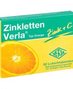 Viên ngậm Zinkletten Verla Orange bổ sung kẽm và vitamin C, 50 viên