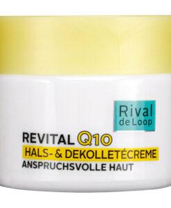 Kem dưỡng da Rival de loop Q10 Hals-& Dekolletecreme chống lão hóa vùng mặt cổ vai