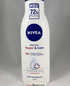Sữa dưỡng thể Nivea Body Lotion Repair & Care 72h, 400 ml - cho da rất khô