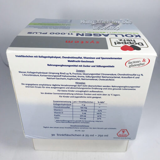 Collagen thủy phân Doppelherz system KOLLAGEN 11.000 PLUS bổ sụn khớp, 30x25ml