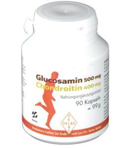 Viên uống bổ sụn khớp Glucosamin 500mg + Chondroitin 400mg từ cá mập, 90 viên