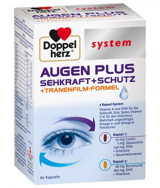 Viên uống bổ mắt Doppelherz system AUGEN PLUS Sehkraft + Schutz, 60 viên