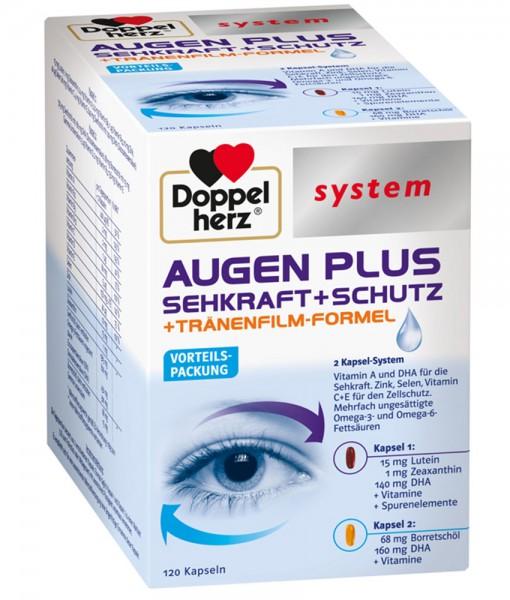 Viên uống bổ mắt Doppelherz system AUGEN PLUS Sehkraft + Schutz, 120 viên