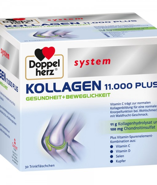 Collagen thủy phân Doppelherz system KOLLAGEN 11.000 PLUS, 30x25ml