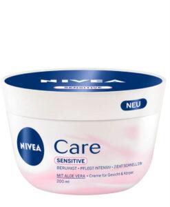 Kem dưỡng ẩm Nivea Care Sensitive chống khô da nứt nẻ cho da nhạy cảm, 200ml