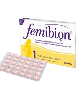 Vitamin bà bầu FEMIBION 1 Kinderwunsch + Schwangerschaft - dùng trước khi mang thai đến tuần thứ 12, 30 viên