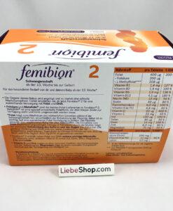Vitamin tổng hợp cho bà bầu FEMIBION 2 - dùng trong 3 tháng (12 tuần)